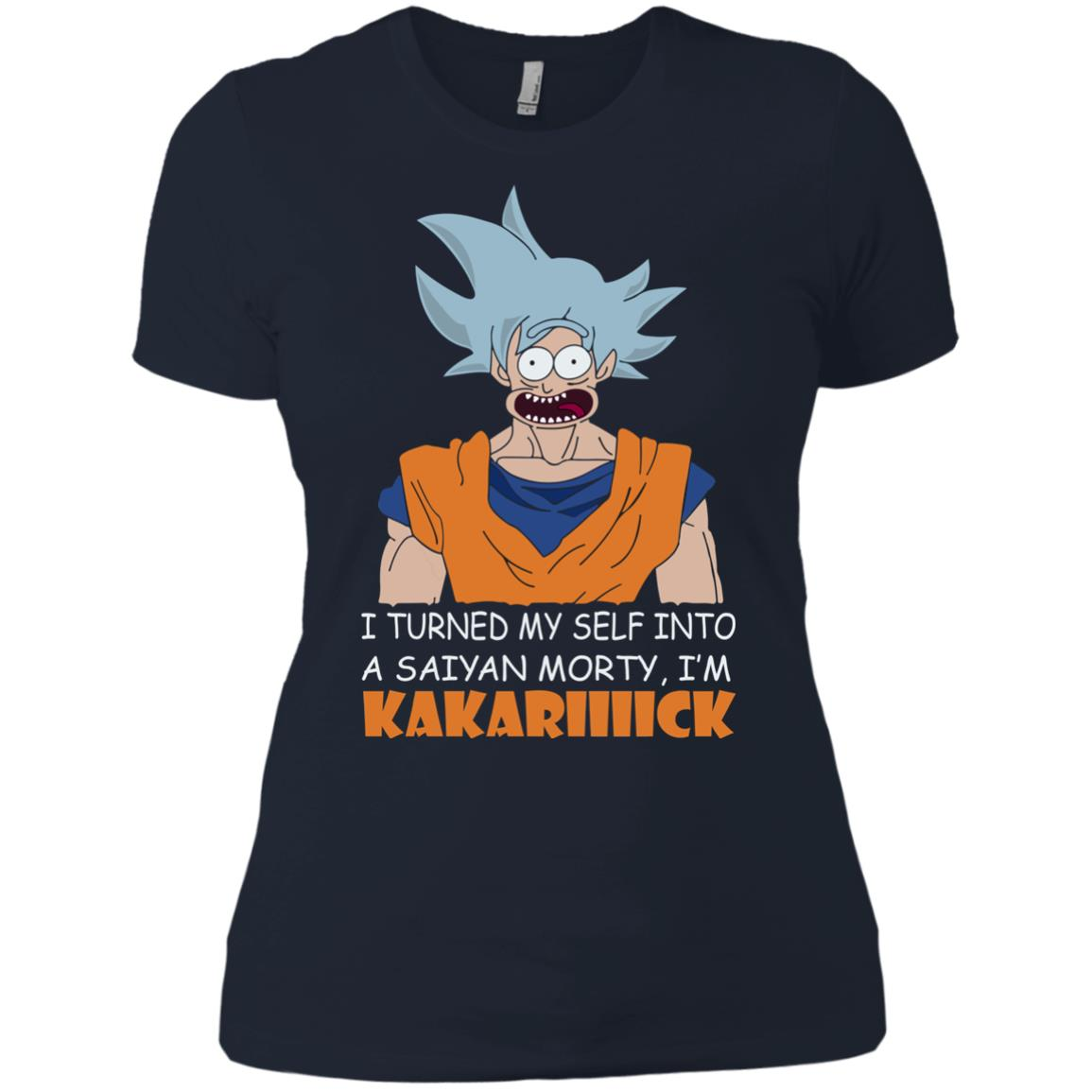image 737px Goku and Morty: I Turned My Self Into A Saiyan Morty, I'm Kakariiiick T Shirts, Hoodies, Tank