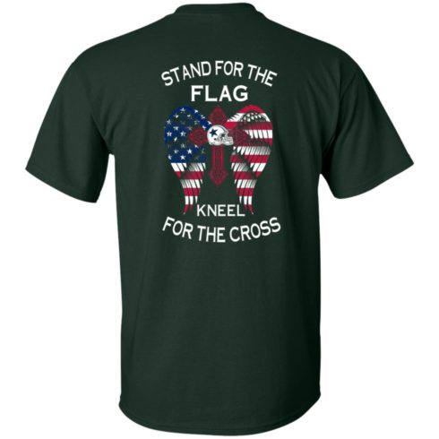 image 897 490x490px Dallas Cowboys Stand For The Flag Kneel For The Cross T Shirts, Hoodies, Sweater