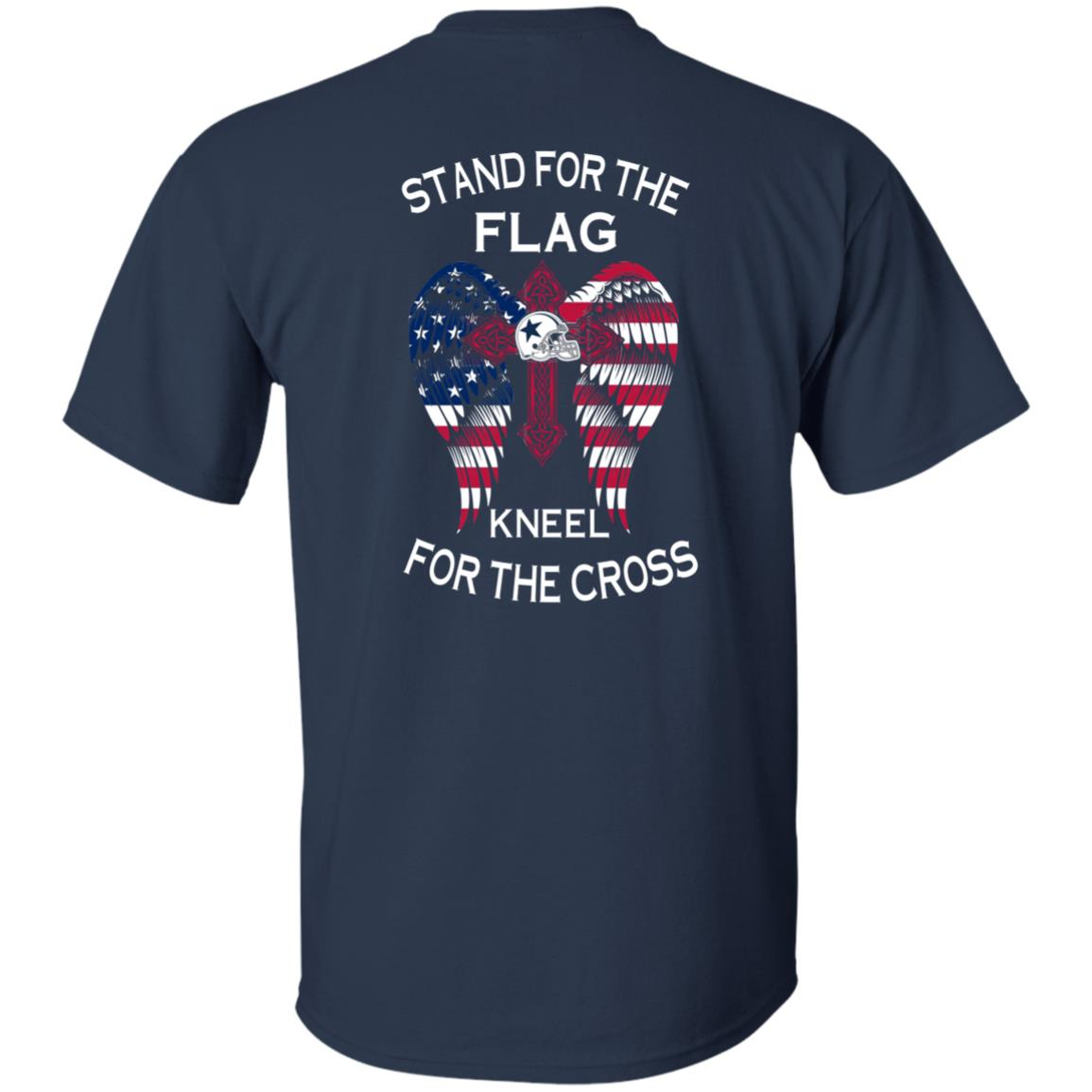 image 898px Dallas Cowboys Stand For The Flag Kneel For The Cross T Shirts, Hoodies, Sweater