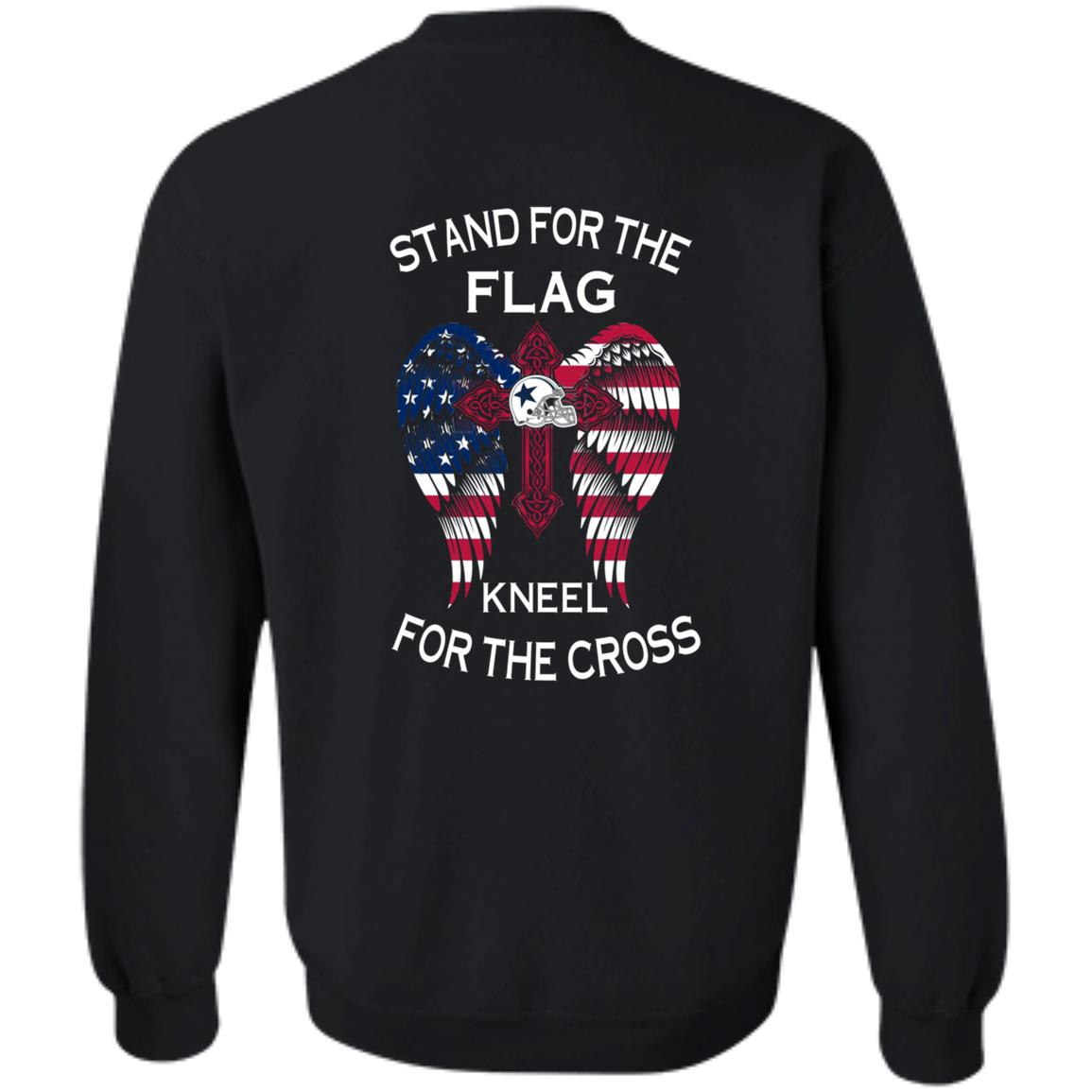 image 902px Dallas Cowboys Stand For The Flag Kneel For The Cross T Shirts, Hoodies, Sweater