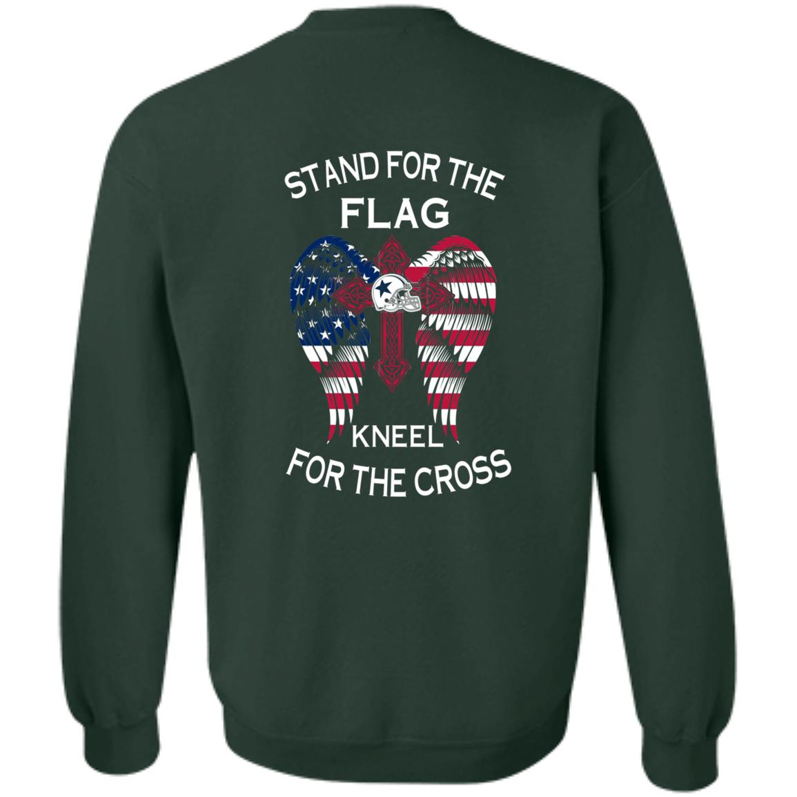 image 904px Dallas Cowboys Stand For The Flag Kneel For The Cross T Shirts, Hoodies, Sweater