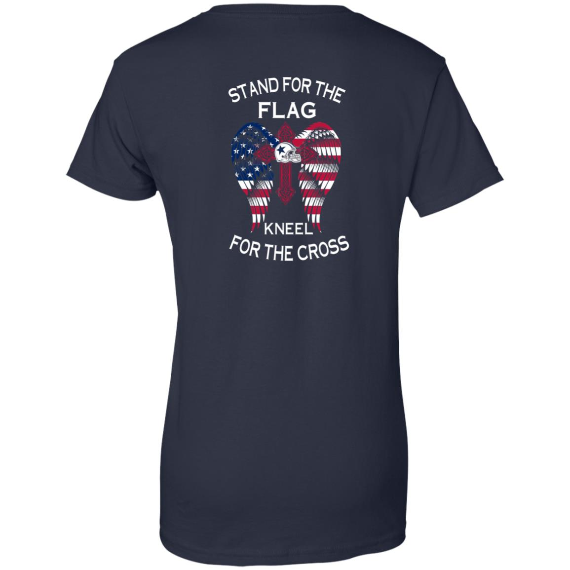 image 907px Dallas Cowboys Stand For The Flag Kneel For The Cross T Shirts, Hoodies, Sweater