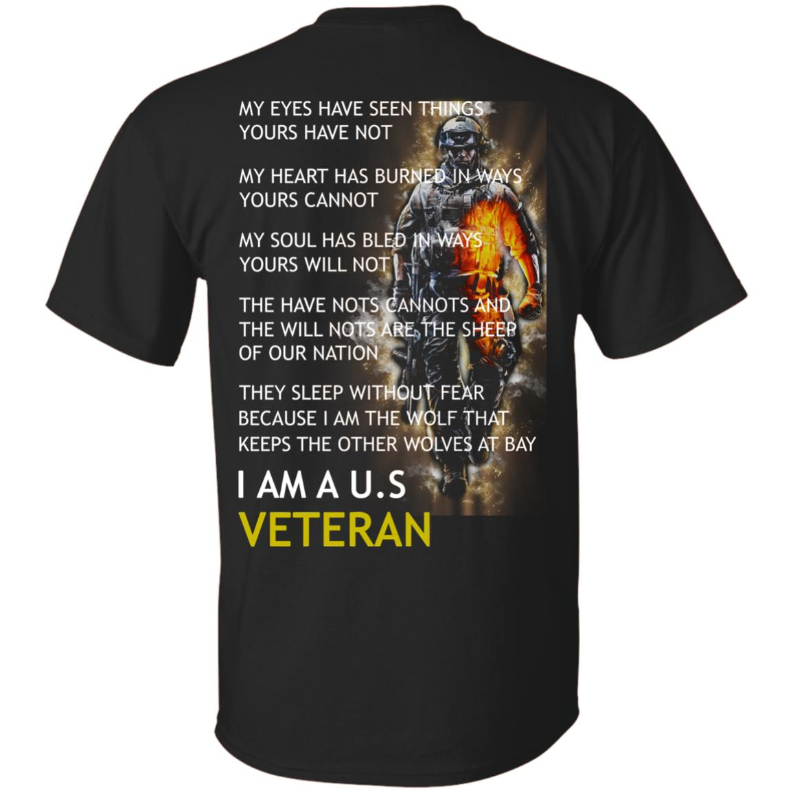 imagepx I am a US Veteran my eyes have seen things yours have not back side t shirt, hoodies