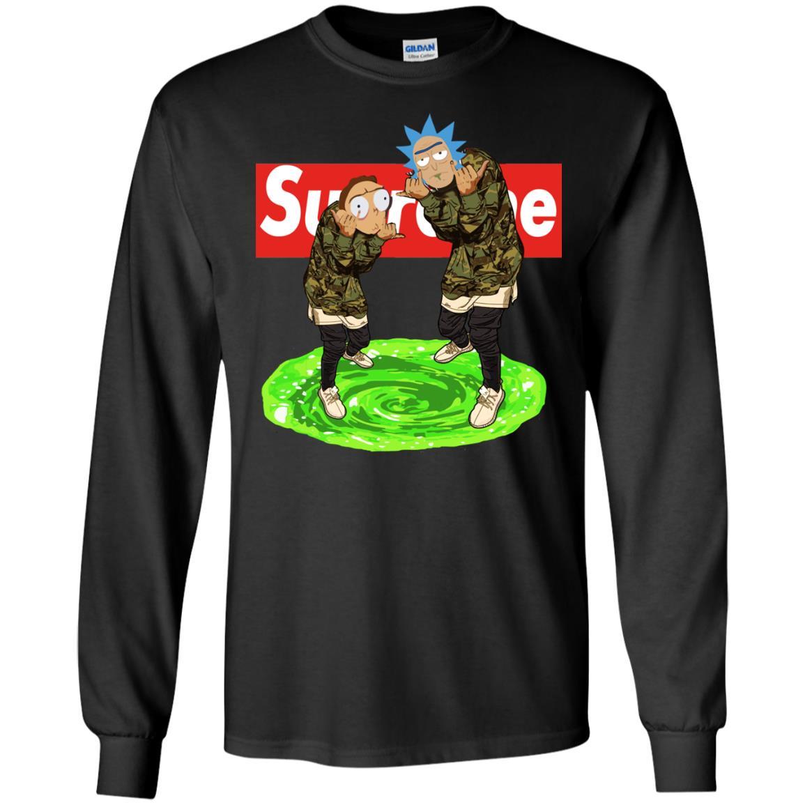 image 100px Rick and Morty Supreme T Shirts, Hoodies, Tank Top