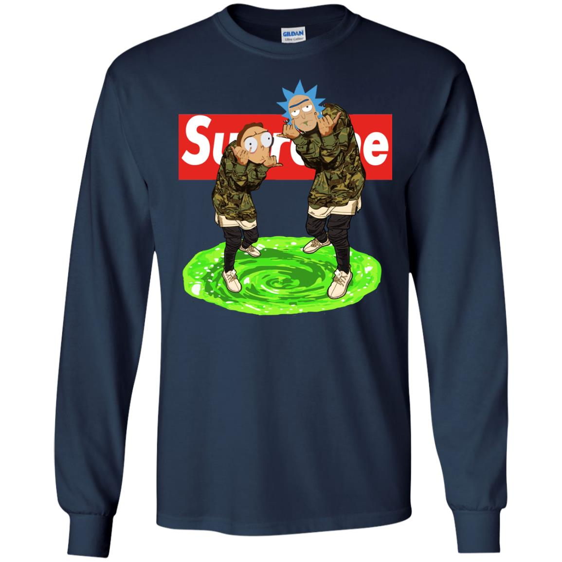 image 102px Rick and Morty Supreme T Shirts, Hoodies, Tank Top