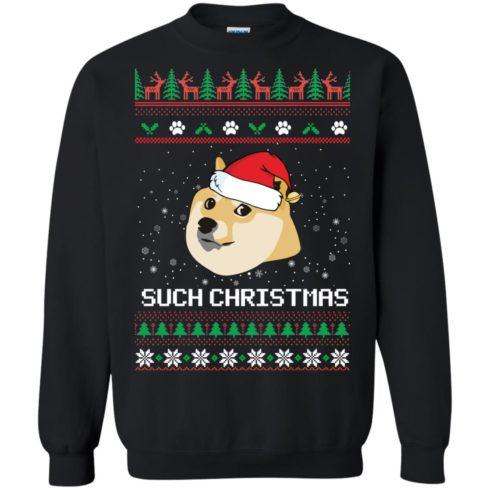 image 1022 490x490px Such Christmas Doge Ugly Christmas Sweater