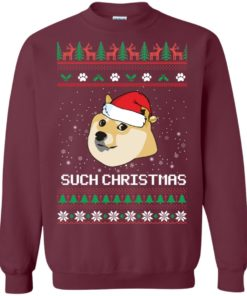 image 1023 247x296px Such Christmas Doge Ugly Christmas Sweater