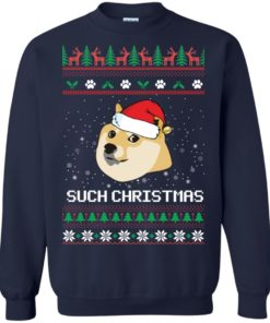 image 1024 247x296px Such Christmas Doge Ugly Christmas Sweater