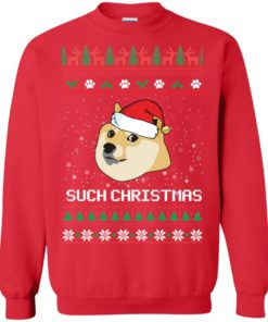 image 1025 247x296px Such Christmas Doge Ugly Christmas Sweater