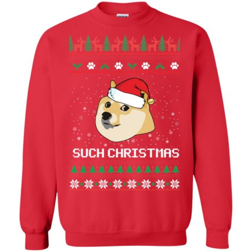 image 1025 490x490px Such Christmas Doge Ugly Christmas Sweater
