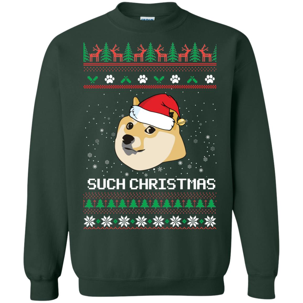 image 1026px Such Christmas Doge Ugly Christmas Sweater