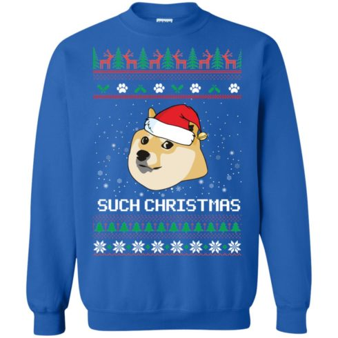 image 1027 490x490px Such Christmas Doge Ugly Christmas Sweater