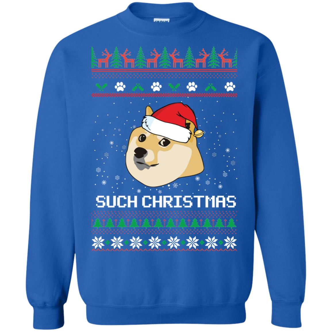 image 1027px Such Christmas Doge Ugly Christmas Sweater