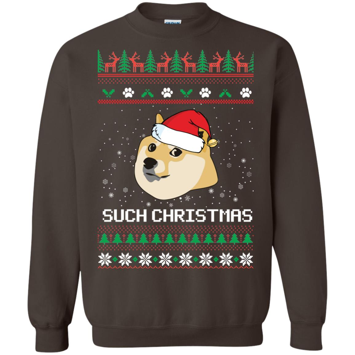 image 1028px Such Christmas Doge Ugly Christmas Sweater