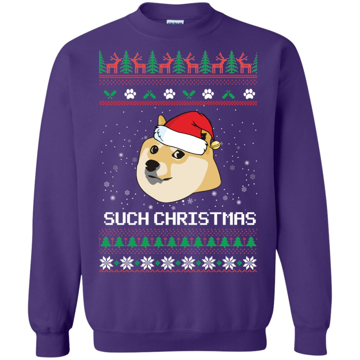 image 1029px Such Christmas Doge Ugly Christmas Sweater