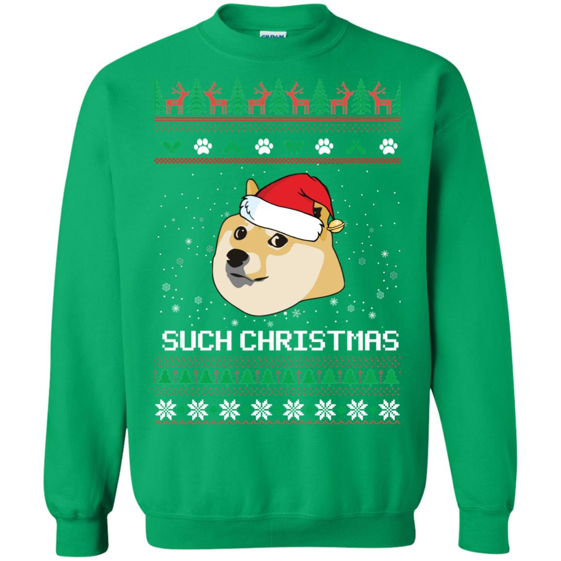 image 1031px Such Christmas Doge Ugly Christmas Sweater