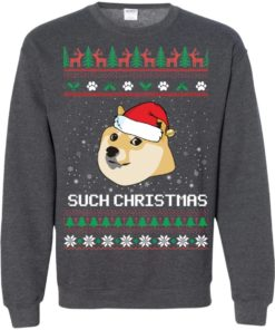 image 1032 247x296px Such Christmas Doge Ugly Christmas Sweater