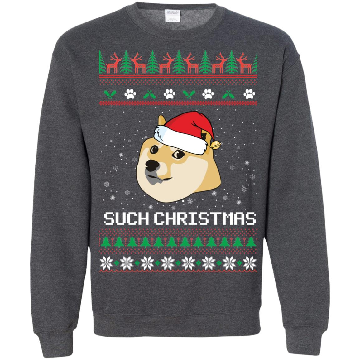 image 1032px Such Christmas Doge Ugly Christmas Sweater