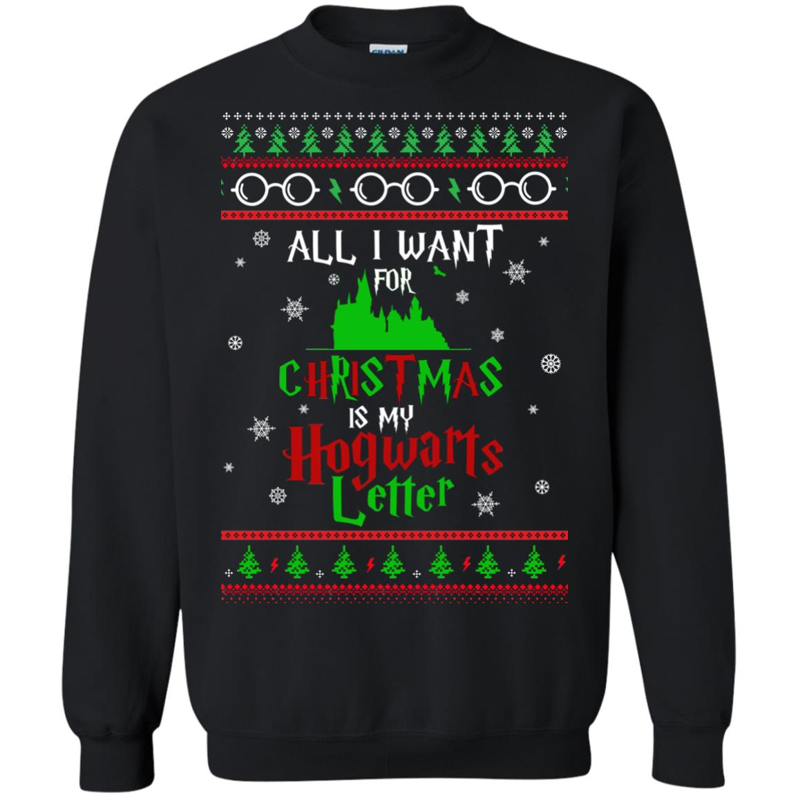 image 1033px Harry Potter Sweater: All I Want Is My Hogwarts Letter Ugly Christmas