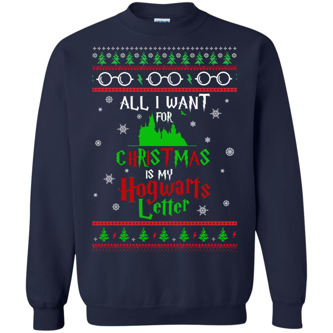 image 1035px Harry Potter Sweater: All I Want Is My Hogwarts Letter Ugly Christmas