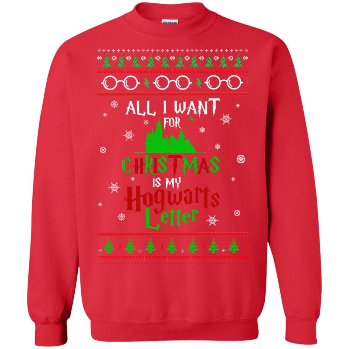 image 1036px Harry Potter Sweater: All I Want Is My Hogwarts Letter Ugly Christmas
