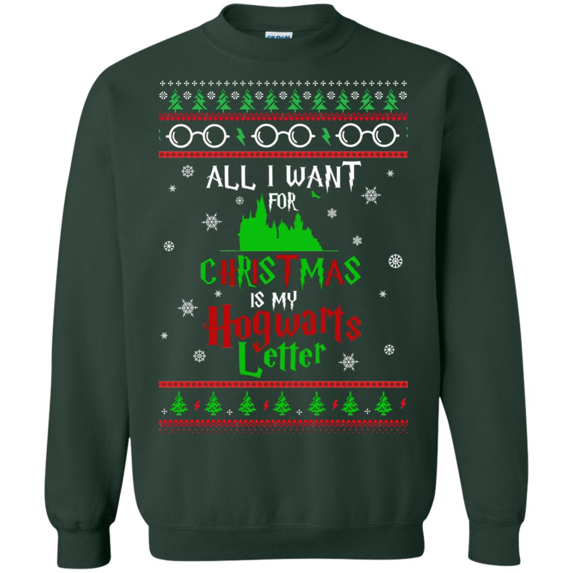 image 1037px Harry Potter Sweater: All I Want Is My Hogwarts Letter Ugly Christmas