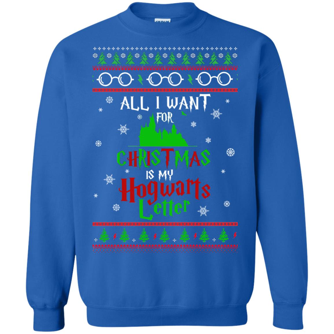 image 1038px Harry Potter Sweater: All I Want Is My Hogwarts Letter Ugly Christmas