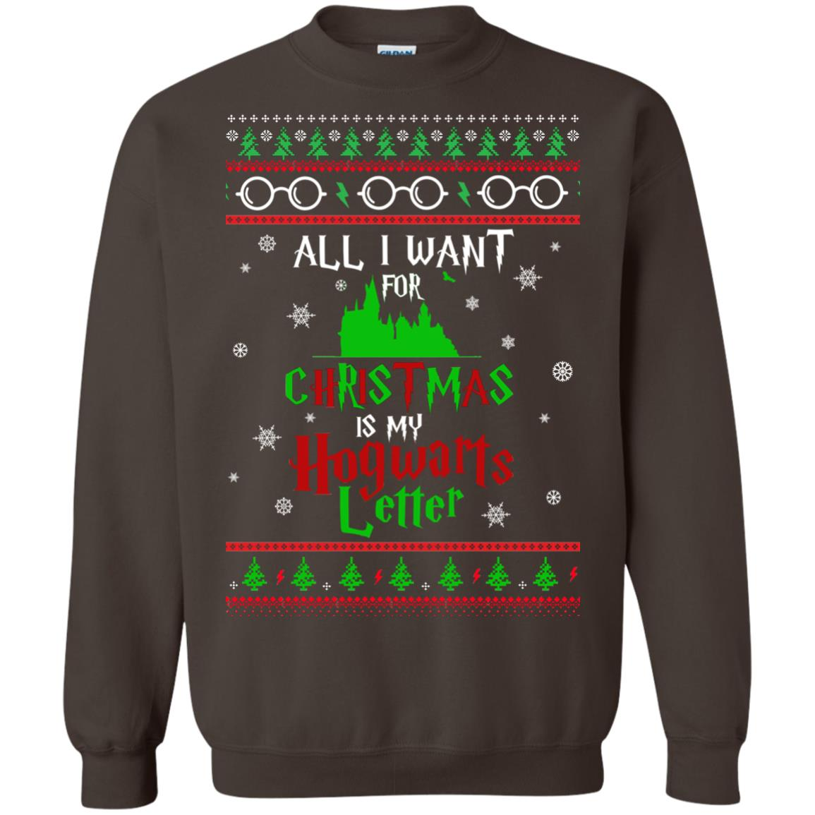 image 1039px Harry Potter Sweater: All I Want Is My Hogwarts Letter Ugly Christmas