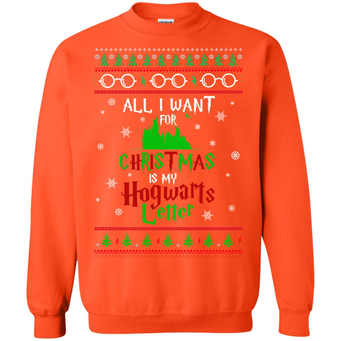 image 1041px Harry Potter Sweater: All I Want Is My Hogwarts Letter Ugly Christmas