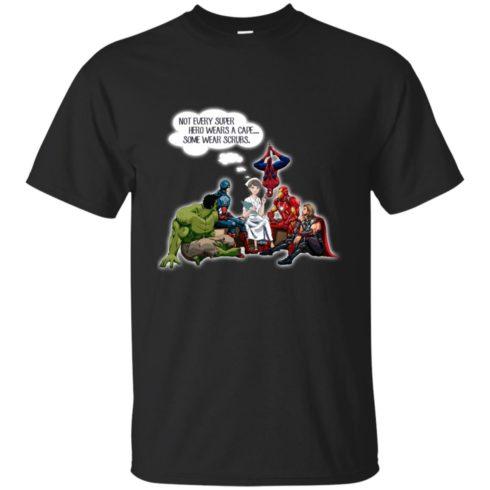 image 11 490x490px Nurse and Superherose shirt: Nurse Not Every Super Hero Wears A Cape Some Wear Scrubs T Shirt