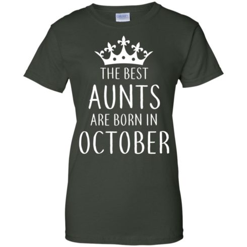 image 118 490x490px The Best Aunts Are Born In October T Shirts, Hoodies, Tank Top