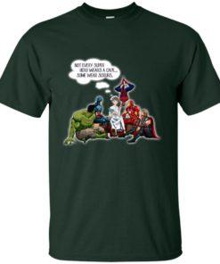 image 12 247x296px Nurse and Superherose shirt: Nurse Not Every Super Hero Wears A Cape Some Wear Scrubs T Shirt
