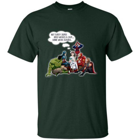 image 12 490x490px Nurse and Superherose shirt: Nurse Not Every Super Hero Wears A Cape Some Wear Scrubs T Shirt