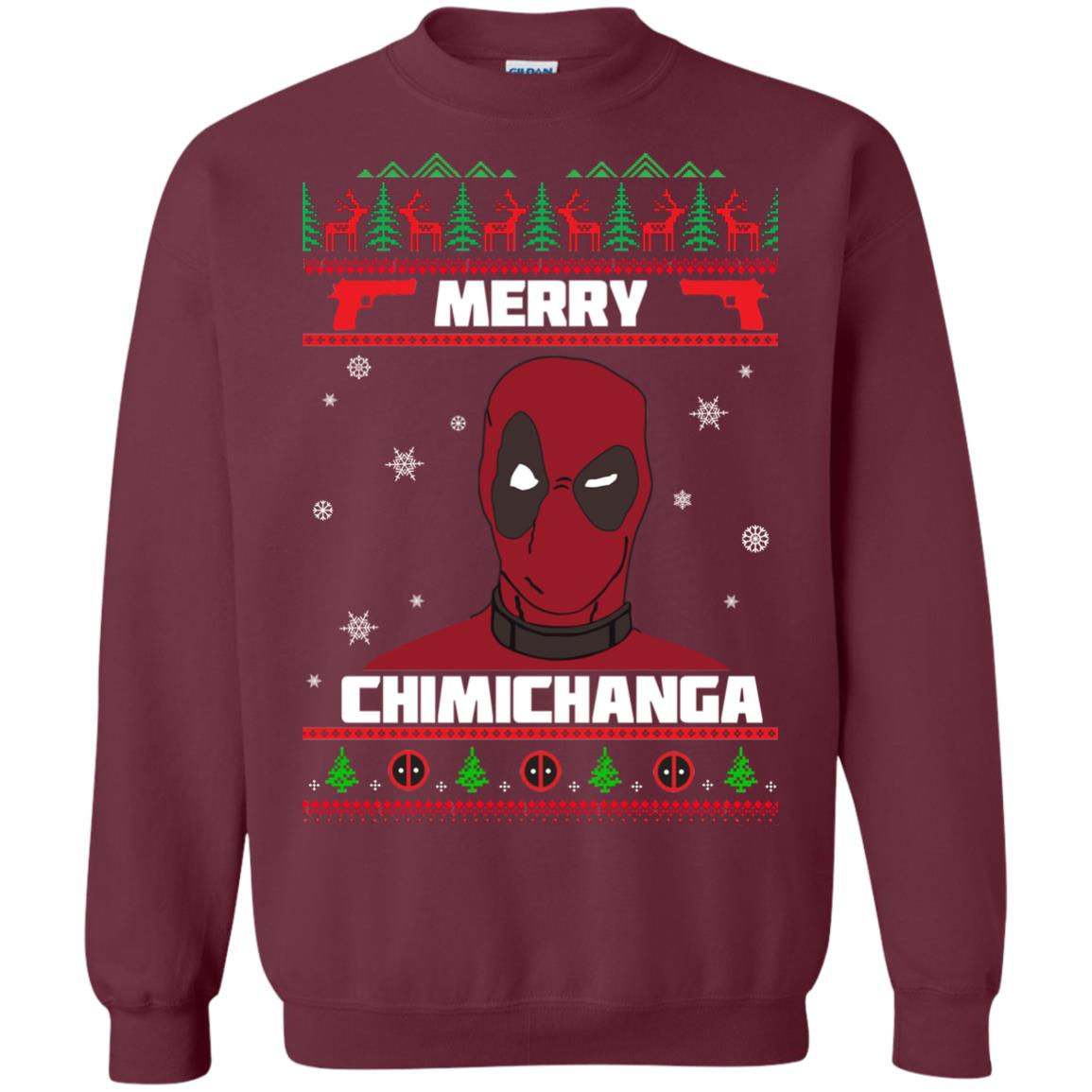 image 1253px Deadpool: Merry Chimichanga Christmas Sweater