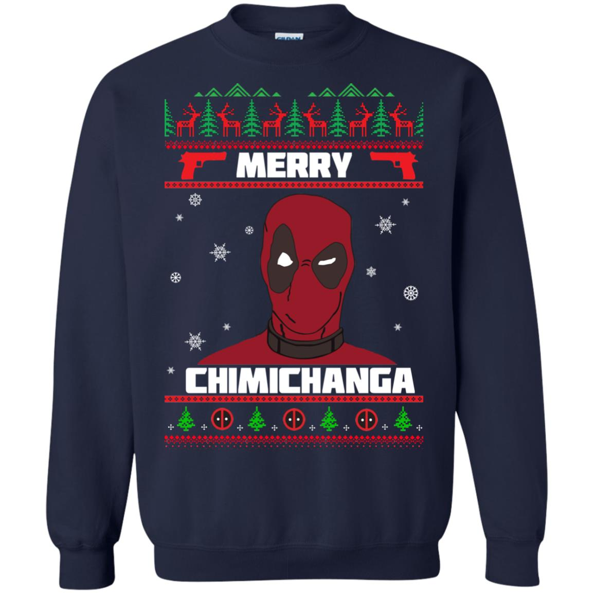 image 1254px Deadpool: Merry Chimichanga Christmas Sweater