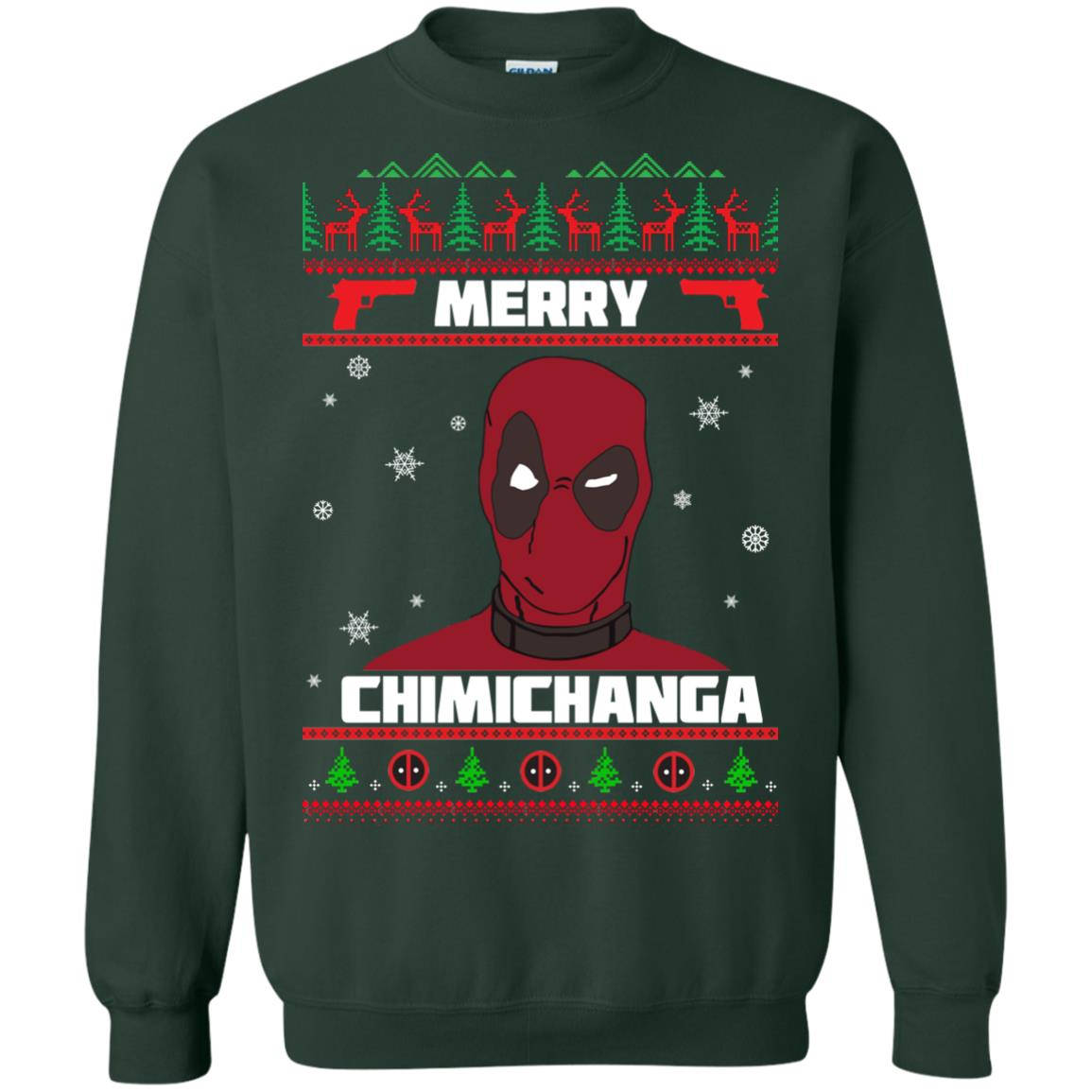 image 1256px Deadpool: Merry Chimichanga Christmas Sweater