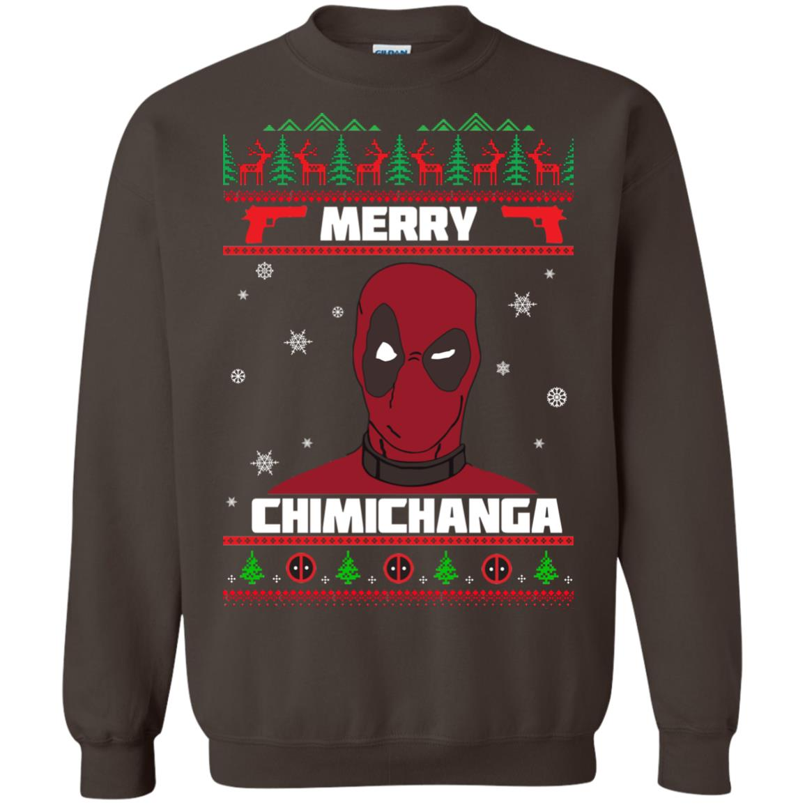 image 1258px Deadpool: Merry Chimichanga Christmas Sweater