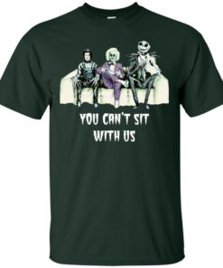 image 1275 247x296px Beetlejuice, Edward, Jack: You can't sit with us t shirt, hoodies, tank top