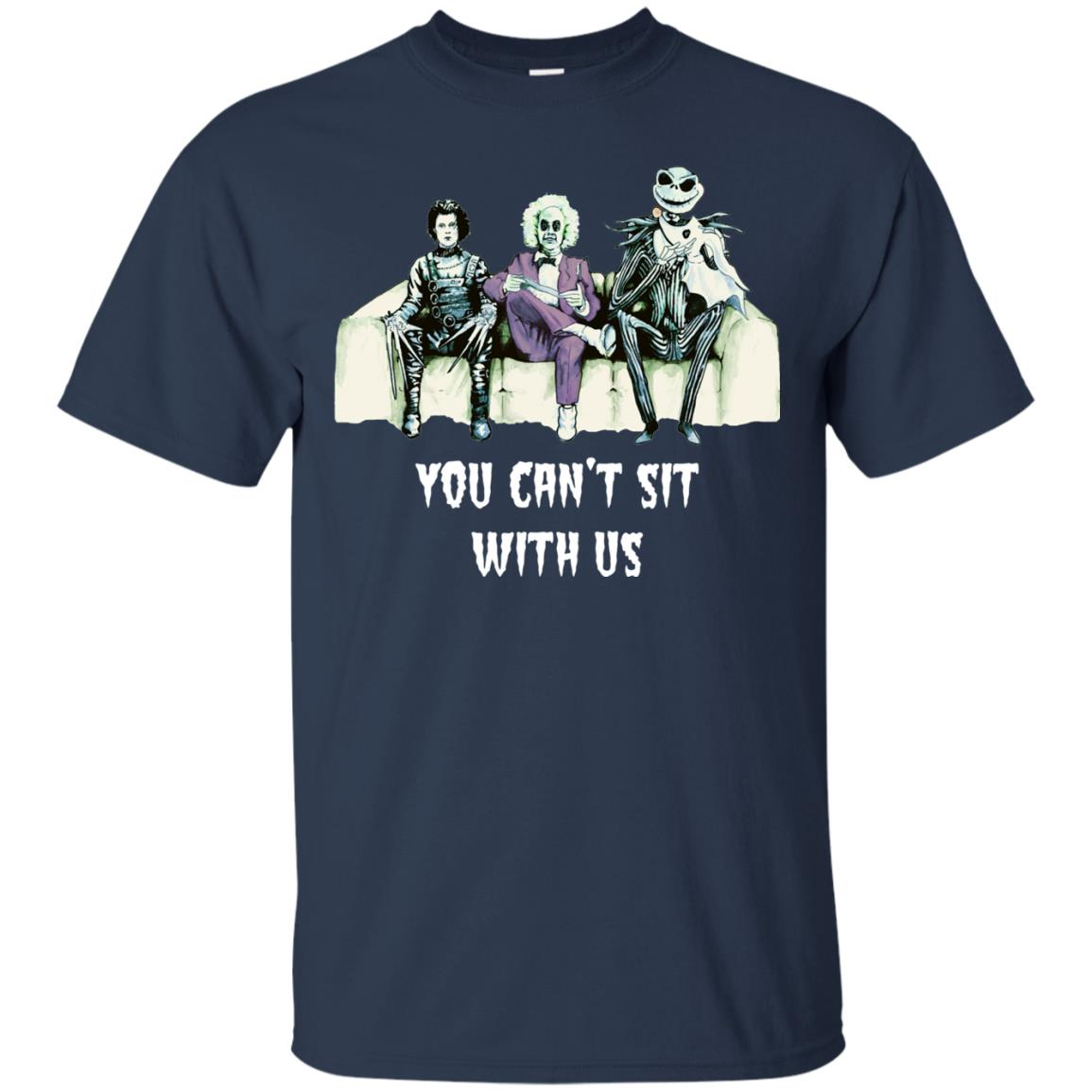 image 1276px Beetlejuice, Edward, Jack: You can't sit with us t shirt, hoodies, tank top