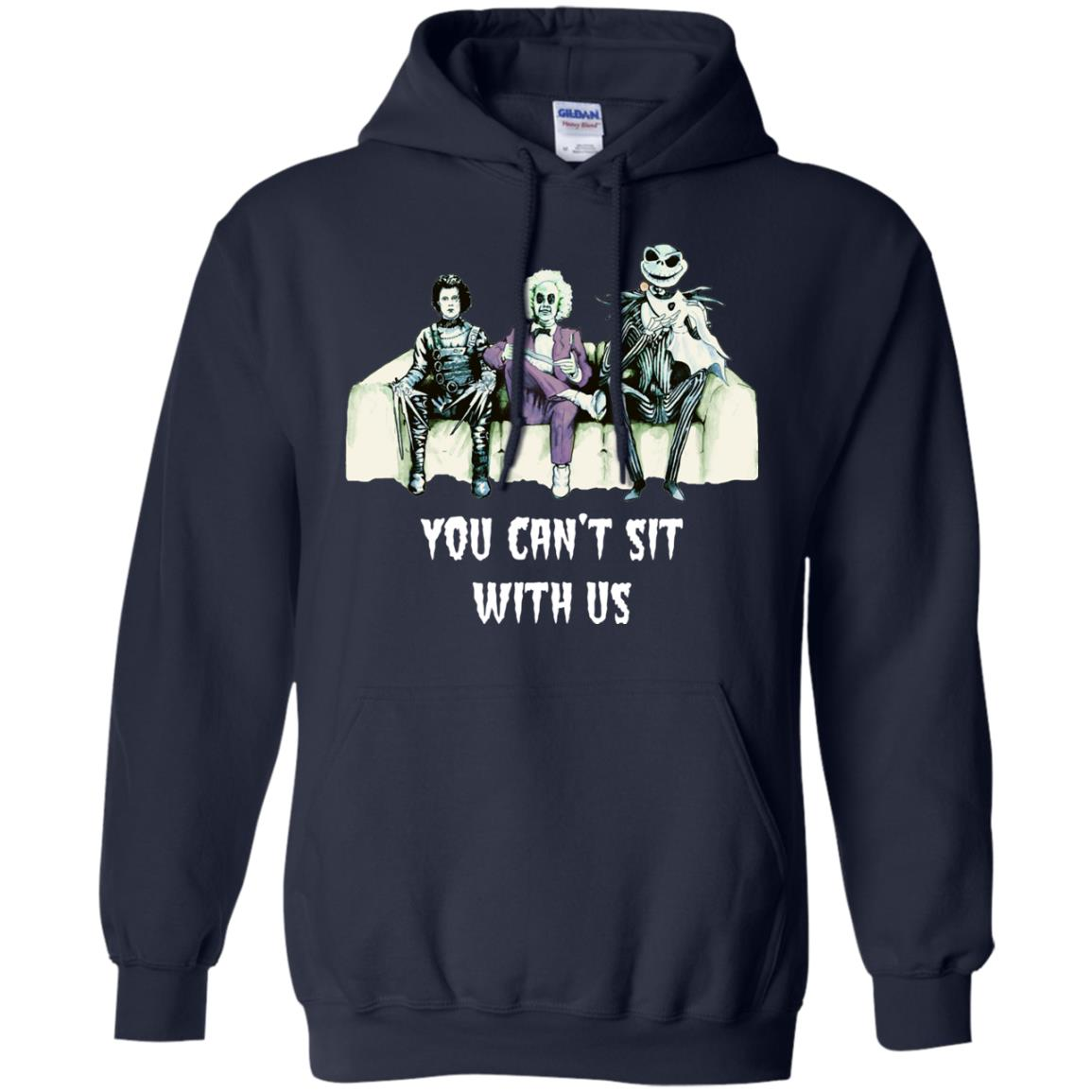image 1278px Beetlejuice, Edward, Jack: You can't sit with us t shirt, hoodies, tank top