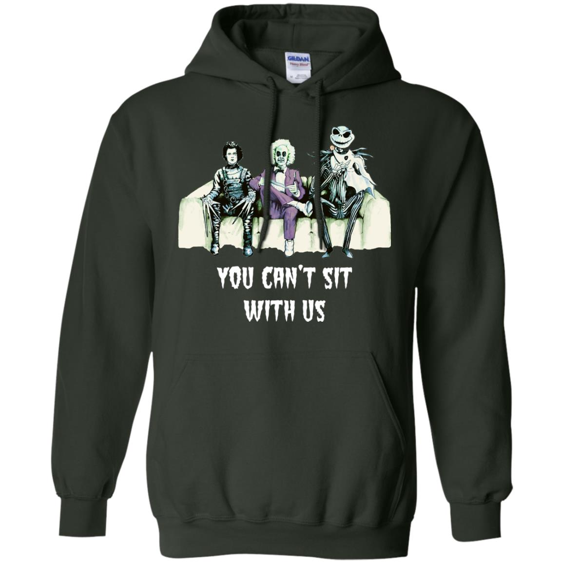 image 1279px Beetlejuice, Edward, Jack: You can't sit with us t shirt, hoodies, tank top