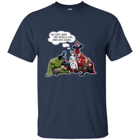 image 13 490x490px Nurse and Superherose shirt: Nurse Not Every Super Hero Wears A Cape Some Wear Scrubs T Shirt