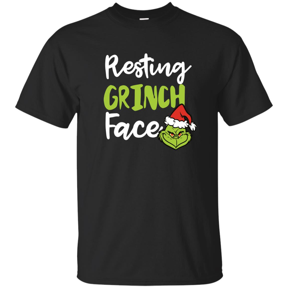 image 1486px Resting Grinch Face Christmas T Shirts, Long Sleeve