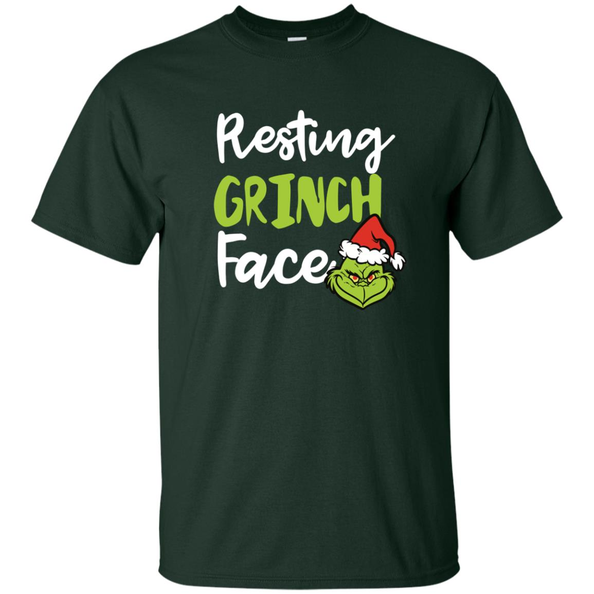image 1487px Resting Grinch Face Christmas T Shirts, Long Sleeve