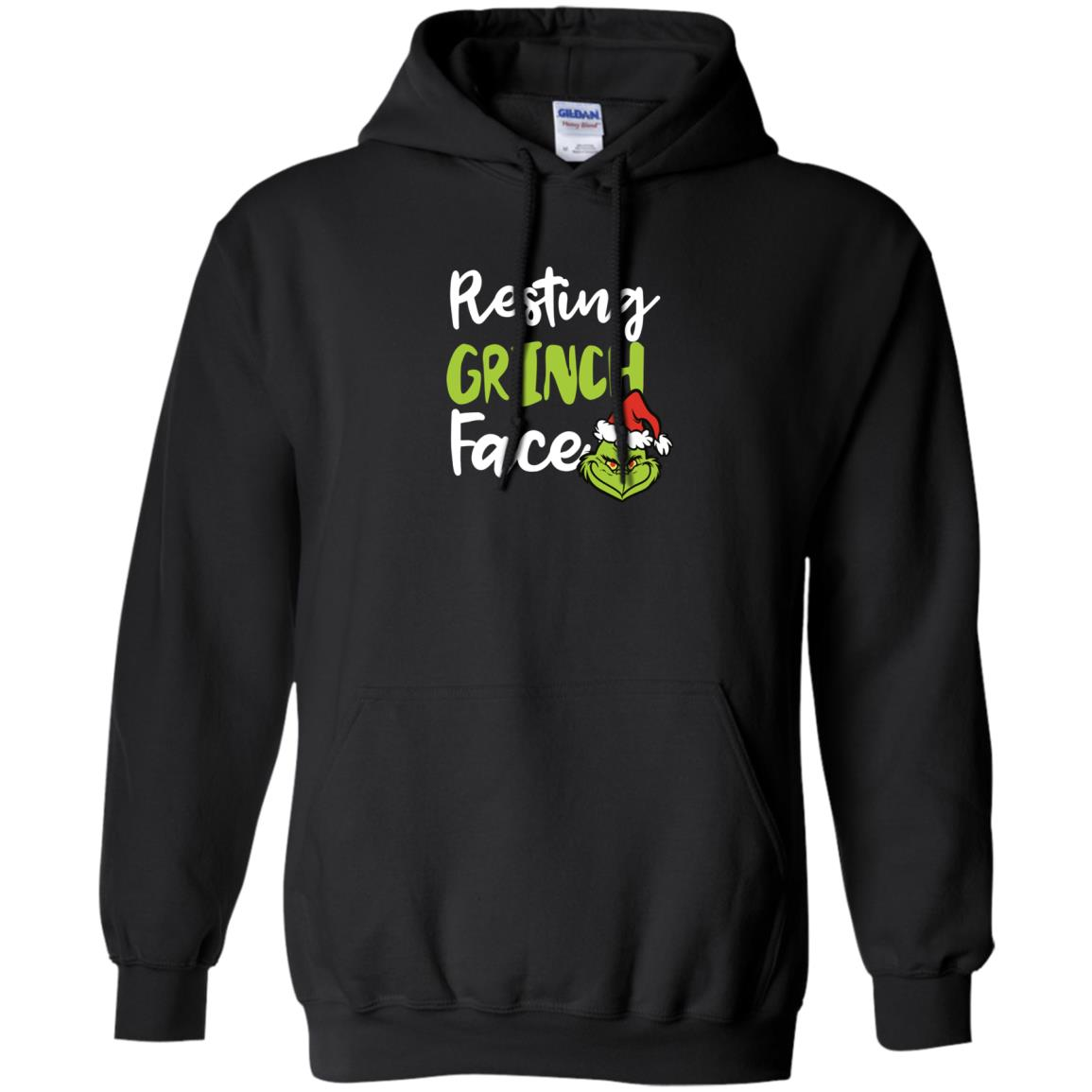 image 1492px Resting Grinch Face Christmas T Shirts, Long Sleeve