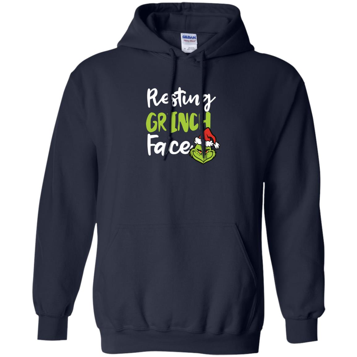 image 1493px Resting Grinch Face Christmas T Shirts, Long Sleeve