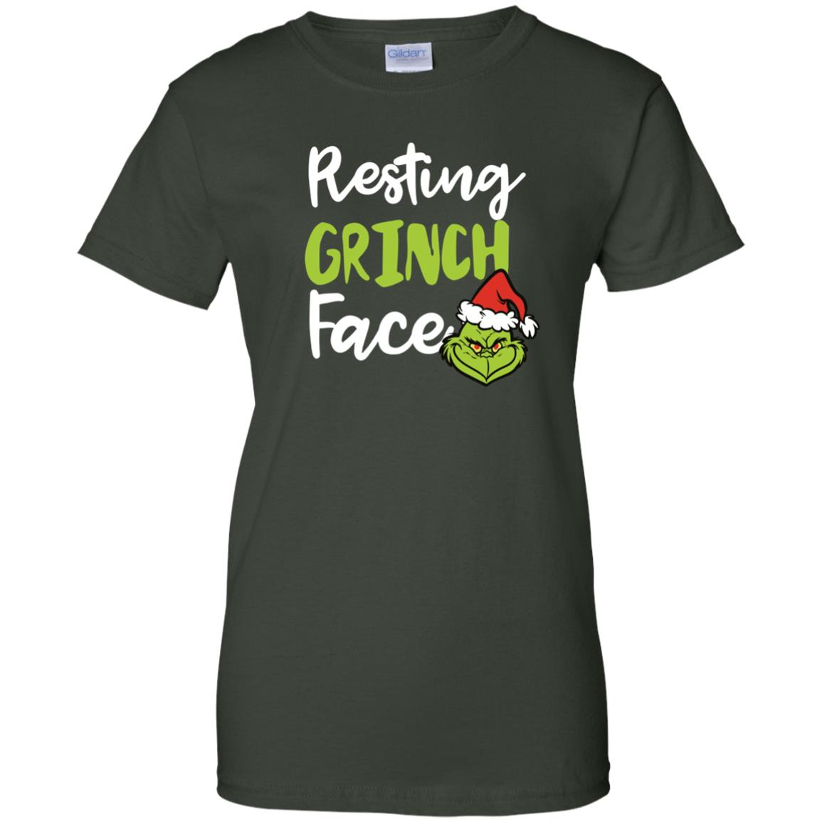 image 1496px Resting Grinch Face Christmas T Shirts, Long Sleeve