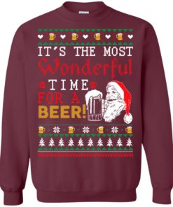 image 1499 247x296px It's The Most Wonderful Time For A Beer Christmas Sweater