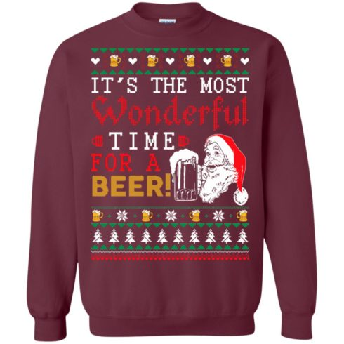 image 1499 490x490px It's The Most Wonderful Time For A Beer Christmas Sweater