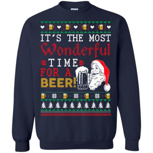 image 1500 490x490px It's The Most Wonderful Time For A Beer Christmas Sweater